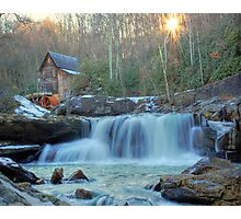 Sunset on Glade Creek Photographic Print