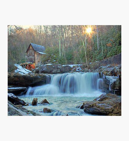 Sunset on Glade Creek Photographic Print
