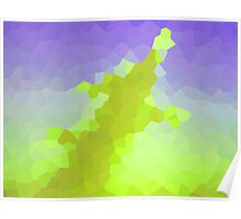 neonflash abstract art fabrics Poster
