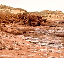Rocks and Sand Dunes at Cavendish Beach, PEI Canada by Shulie1
