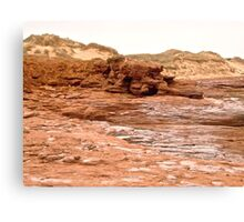 Rocks and Sand Dunes at Cavendish Beach, PEI Canada Canvas Print