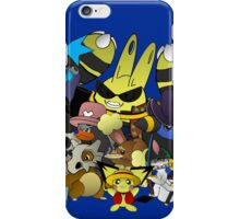pokemon one piece strawhats luffy anime chibi shirt iPhone Case/Skin