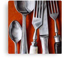 Sterling Cutlery  II Canvas Print