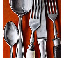 Sterling Cutlery  II Photographic Print