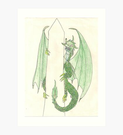 Ingress Enlightened Green Dragons DC Art Print