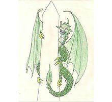 Ingress Enlightened Green Dragons DC Photographic Print