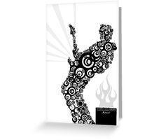 Abstract Guitar Player. by James Cattlett Greeting Card