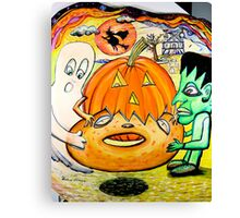 Pumpkin Bagel Nightmare Canvas Print