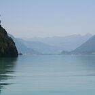 Lake Brienz on a calm day by mjdennison