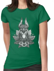 Doberman & Daisies Womens Fitted T-Shirt
