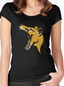 Tasmanian Tiger stencil Women's Fitted Scoop T-Shirt