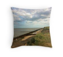 Suffolk Coastline Throw Pillow