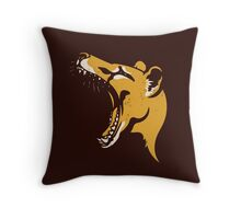 Tasmanian Tiger stencil Throw Pillow