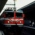 Our train to Narvik at Uppsala Sweden 198406170011 by Fred Mitchell
