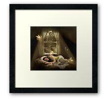 .while we sleep. Framed Print