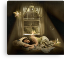 .while we sleep. Canvas Print