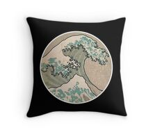 The great wave - Round Throw Pillow