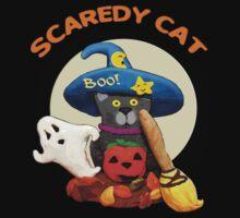 Funny Halloween Scaredy Cat T-Shirt
