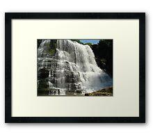 Large Falls Base Framed Print