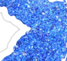 Blue Glitter New Jersey Sticker