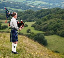 The Lone Piper ~ Eggardon Hill, Dorset by Susie Peek