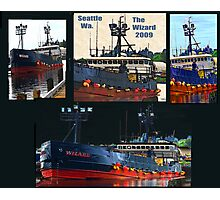 Deadliest Catch Wizard Collage Photographic Print