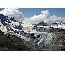 Along the Gornergrat Glacier, Zermatt, Switzerland Photographic Print