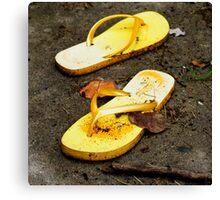 Yellow Sandals  Canvas Print
