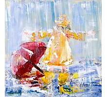 I Love Rain: Palette Knife painting by Alma Lee Photographic Print