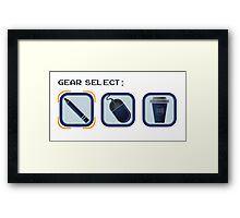 Video game inspired gear selection Framed Print