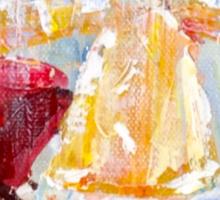 I Love Rain: Palette Knife painting by Alma Lee Sticker
