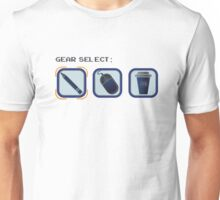Video game inspired gear selection Unisex T-Shirt