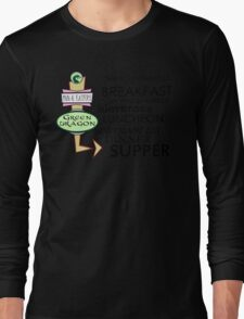 The Green Dragon Serves ALL the Hobbit Meals Long Sleeve T-Shirt