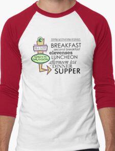 The Green Dragon Serves ALL the Hobbit Meals Men's Baseball ¾ T-Shirt