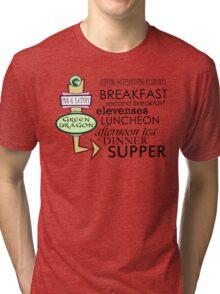 The Green Dragon Serves ALL the Hobbit Meals Tri-blend T-Shirt