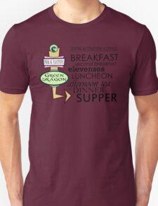 The Green Dragon Serves ALL the Hobbit Meals Unisex T-Shirt