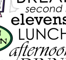 The Green Dragon Serves ALL the Hobbit Meals Sticker