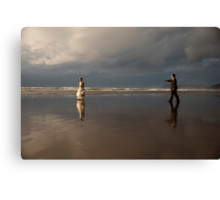 wait for me my love Canvas Print