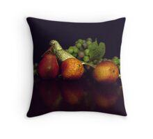 Silver Pheasant with Fruit Throw Pillow