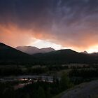 Storm front on the Highwood Pass, Alberta by Ben Rae