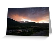 Storm front on the Highwood Pass, Alberta Greeting Card