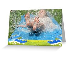 Slip and Slip Water Fun Greeting Card