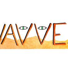Wavves Text Illustration by deedoubleyoo