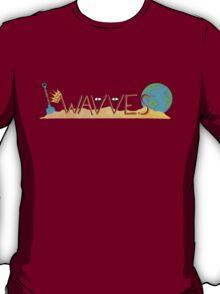Wavves Text Illustration T-Shirt