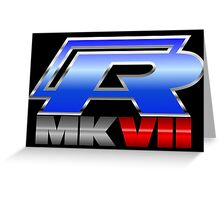 VW R MK7 Icon Greeting Card