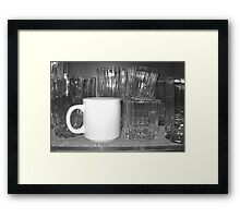 Something's Not Clear Here Framed Print
