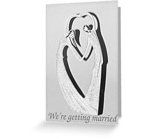 Wedding Announcement Greeting Card