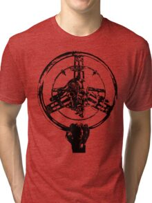 Mad Max Wheel Stencil Design Tri-blend T-Shirt