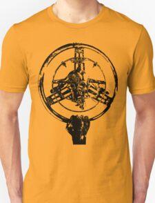 Mad Max Wheel Stencil Design T-Shirt