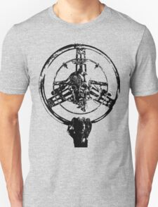 Mad Max Wheel Stencil Design Unisex T-Shirt